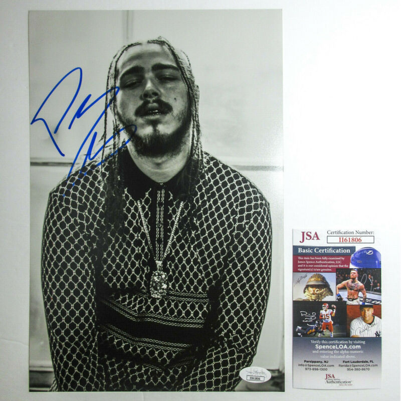 *Hollywood's Bleeding* Post Malone Signed Autographed 8x12 Photo PROOF JSA H