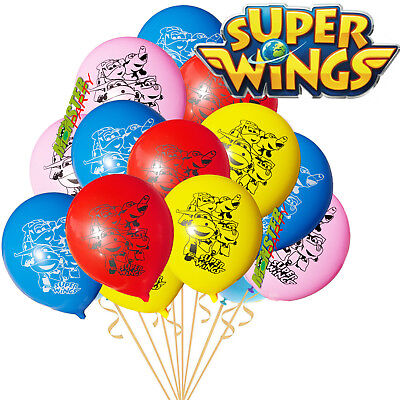 SUPER WINGS BIRTHDAY PARTY BALLOONS BALLOON LATEX SUPPLY FAVOR SUPERWING WING (Super Balloons)