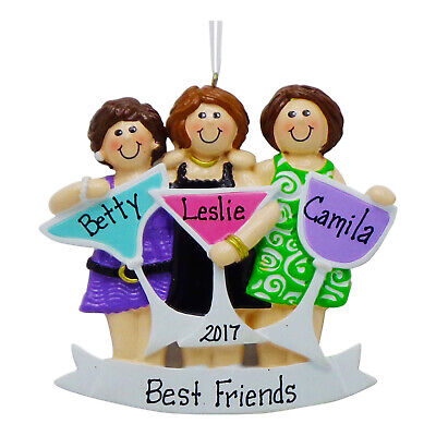 PERSONALIZED Girls Night Out 3 Best Friends Christmas Ornament 2019 Holiday Gift ()