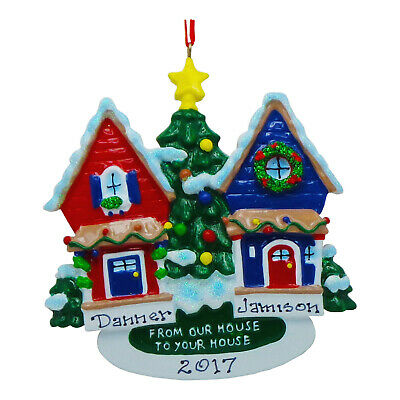 PERSONALIZED Neighbors From Our House To Yours Christmas Ornament 2019 Gift  ()
