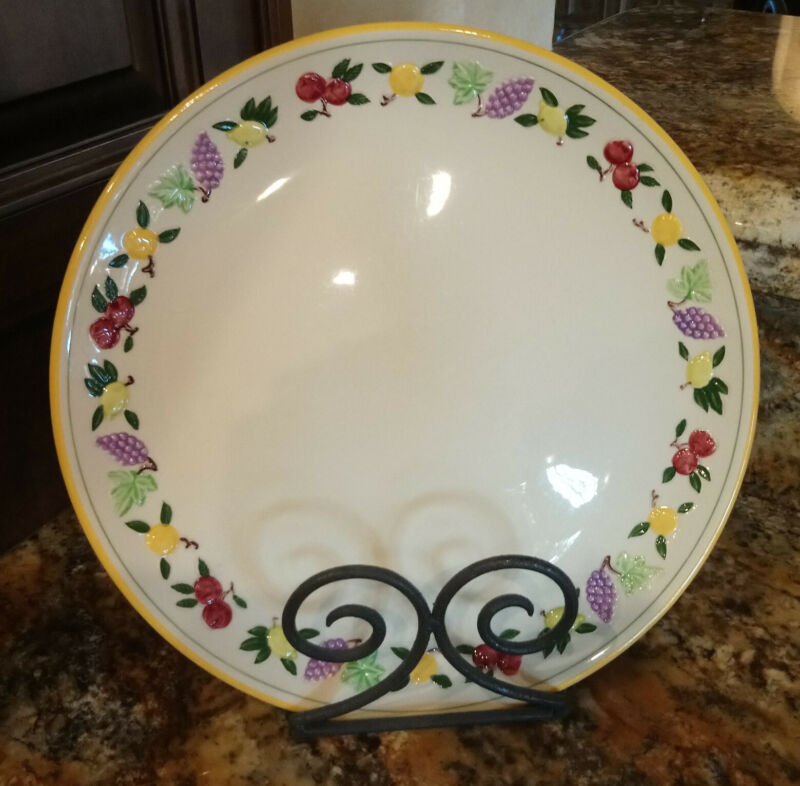 """RARE 1953-58 USA FRANCISCAN SMALL FRUIT 12"""" CHOP PLATE EXC VINTAGE CONDITION"""