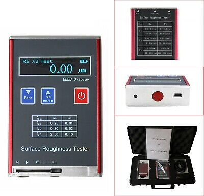 Digital Surface Roughness Tester Ra Rz Rq Rt Profile Gauge Measuring Instrument