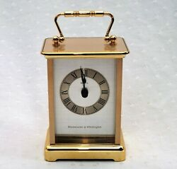 WESTMINSTER WHITTINGTON BULOVA Battery Operated MANTLE CLOCK - Chimes Hour +