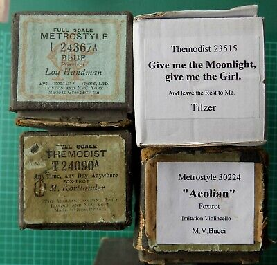 4x Dance Pianola Piano Rolls Give me the Moonlight give me the Girl + 3 more