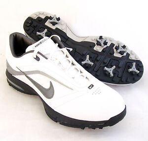 NEW-Mens-Nike-Air-Academy-Golf-Shoes-White-Silver-Size-11-5-M-RETAIL-130