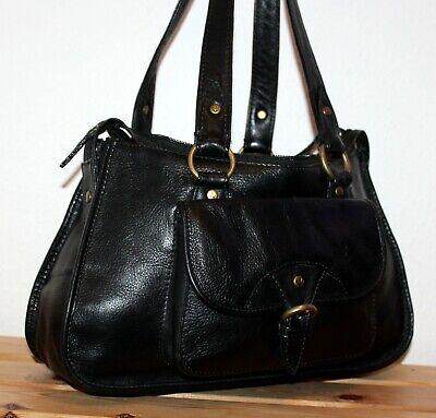 Hidesign By Radley Leather Boho/Hobo Black Bucket Shoulder Bag/Tote/Purse
