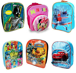 Kids-Character-School-Backpack-Rucksack-Bag-Brand-New