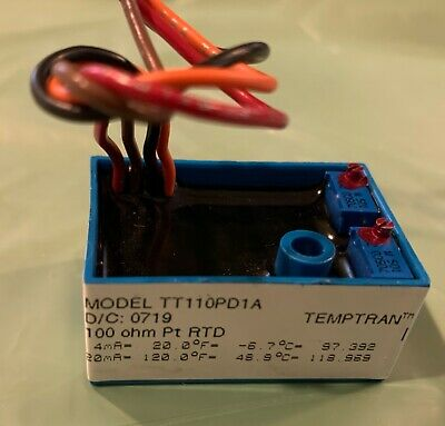 Minco Temperature Transmitter Rtd Tt110pd1a