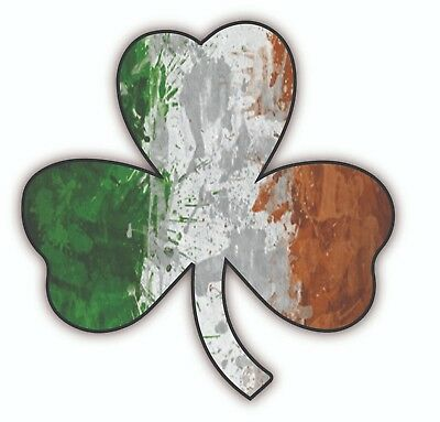 New SHAMROCK CLOVER Irish flag lucky decal sticker multi color …
