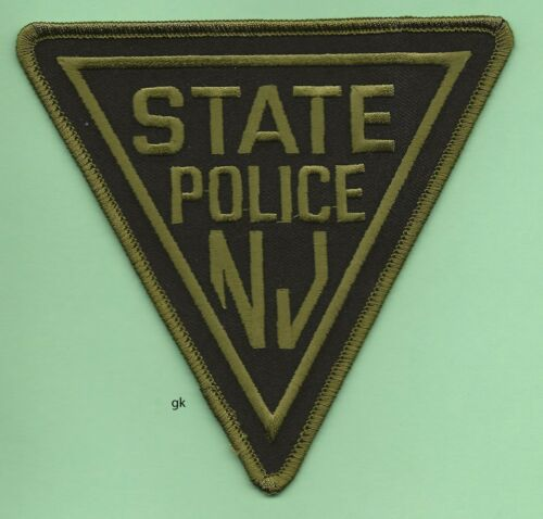 NEW JERSEY STATE POLICE SHOULDER PATCH (SUBDUED - GREEN)
