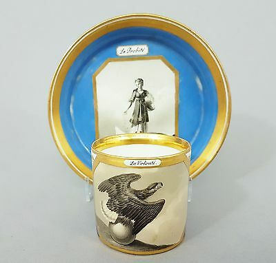 Klassizistische Tasse ,bemalt mit Allegorie der Freundschaft, Alt Wien 1812-1815