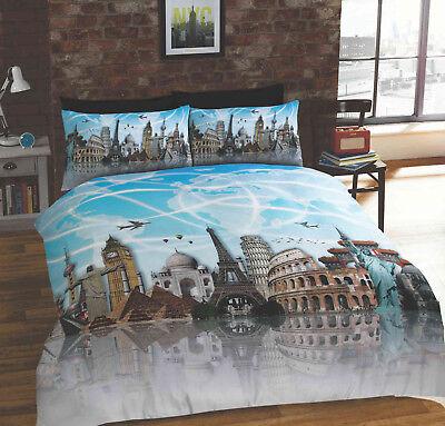 Building Landmarks around the World Duvet Quilt Cover Bedding Set & Pillowcases (Landmarks Around The World)
