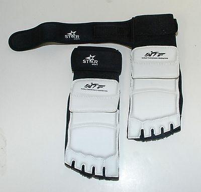 как выглядит WTF TaeKwonDo Foot Guard Protector TKD Martial Arts Sparring Instep Gear Karate фото