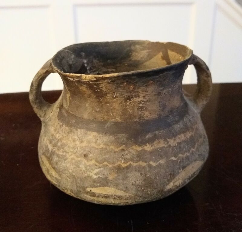 Ancient Neolithic Handled Machang Vessel - CHINA - 2300 to 2000 BC