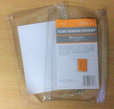 2 Pack Baumgartens Ring Binder Zip Pocket For 3 6 7 Ring Binders 9 6 New