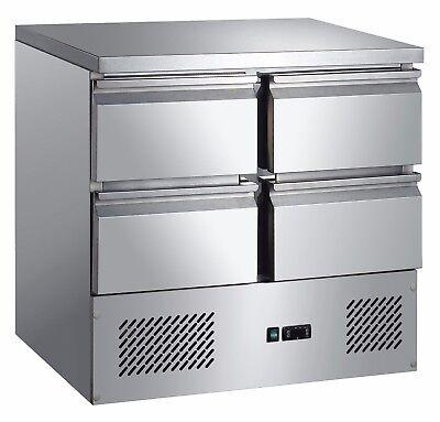 Mini Kühltisch mit 4 Schubladen 903x700x975