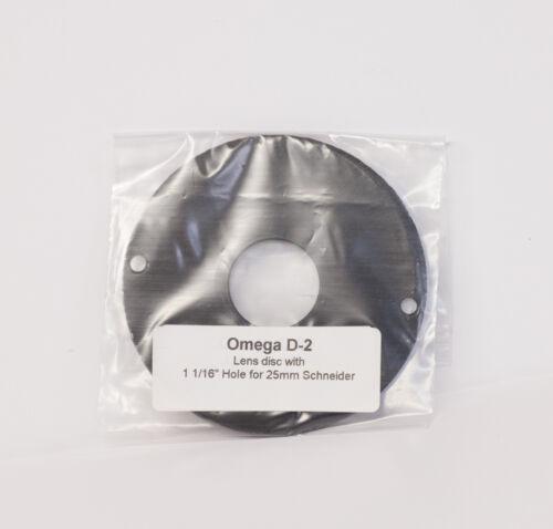 Lens Disc for Omega D Enlarger, Generic maker, 1 1/16 Diameter Hole.