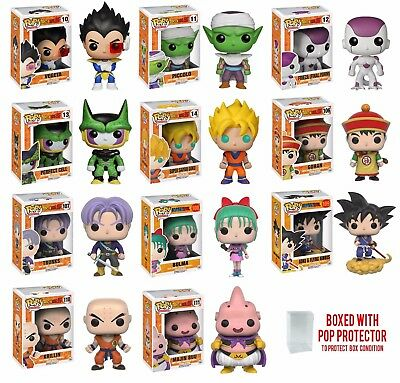 Funko Pop Dragon Ball Z : Goku, Vegeta, Piccolo, Gohan, Trunks Vinyl Figure 1x