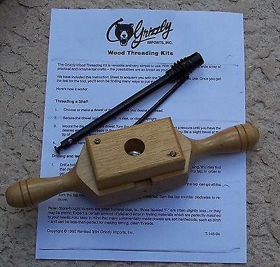 "vintage Grizzley Wood Threading Kit 3/4"" Tap and Die"