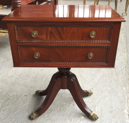 Antique Mahogany Sewing Table 19th Century