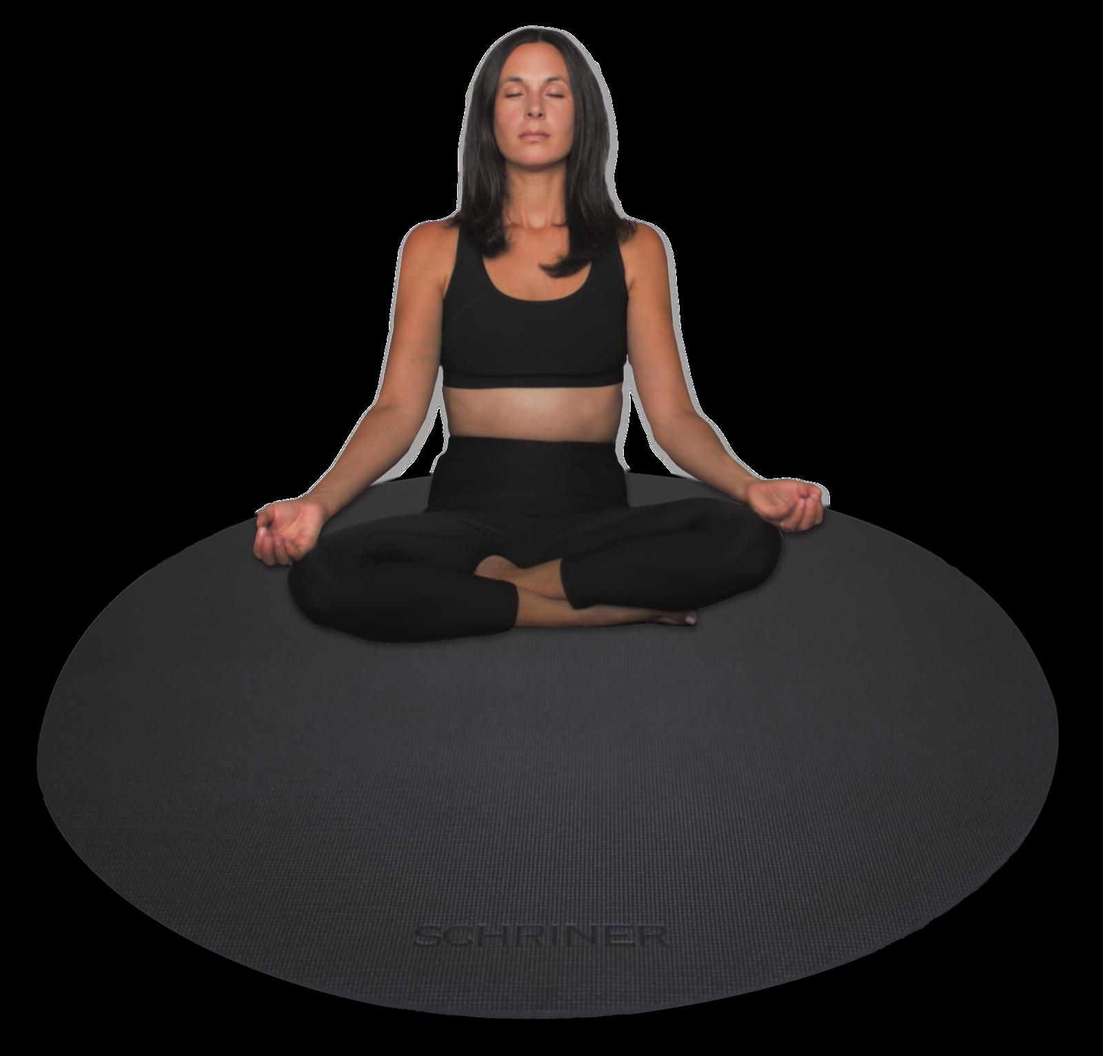 round yoga mat pro meditation mat 4ft