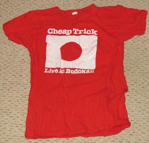 Original Cheap Trick Live At Budokan Concert T shirt Epic Records