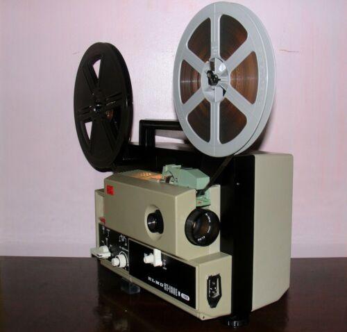 Elmo ST-180 M 2-Track Super 8 SOUND Movie Projector in Box ~Serviced~