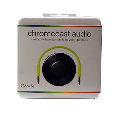 Google Chrome Audio Chromecast Wireless Music Streaming Device With Aux Cable