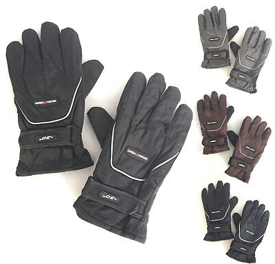 (Men Winter Outdoor Sports Ski Thermal Insulation Waterproof Gloves Mittens 3952)