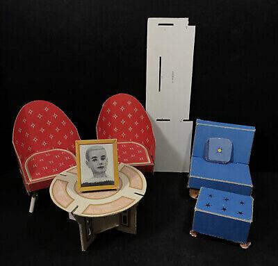 Vtg Barbie Fashion Shop Dream House Cardboard Furniture Ken Photo Chair Wardrobe