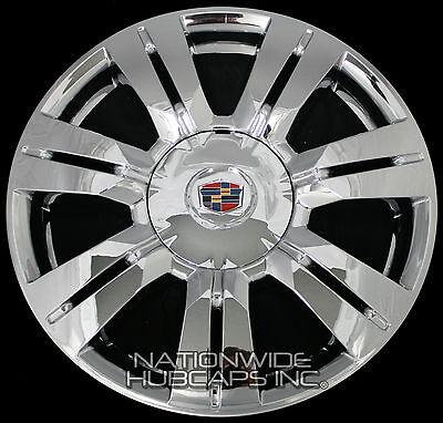 "4 CHROME 10-16 Cadillac SRX 18"" Wheel Skins Hub Caps Rim Covers and Center Caps"