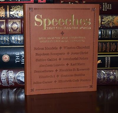 Speeches That Changed World Marx Luther Caesar Kennedy New Leather Feel Gift