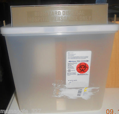 Sharps Biohazard Disposal Home Patient Room Office 1 Gallon Or 2 Quarts