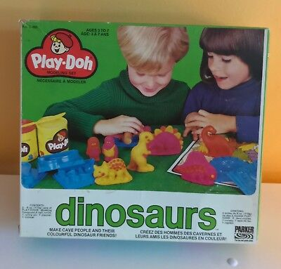 Very rare 1977 Play-doh Dinosaurs modeling set +++ extra - vintage