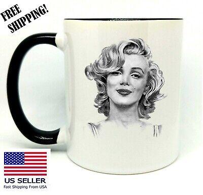 Marilyn Monroe, Birthday, Christmas Gift, Black Mug 11 oz, Coffee/Tea ()