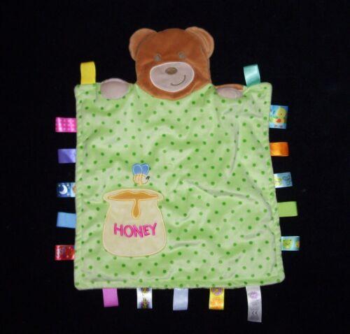 Taggies Peek A Boo Bear Baby Blanket Green Dots Honey 1 Bee Security Lovey