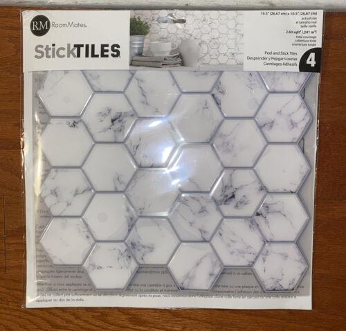 4pack Peel And Stick Back Splash Tiles 10.5 X 10.5 Multi Use / Room