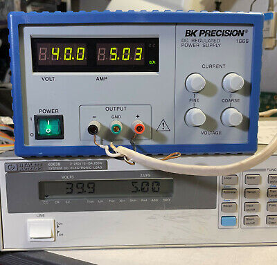 Bk Precision 1666 Regulated Variable Dc Power Supply 0-40v 5a - Load Tested