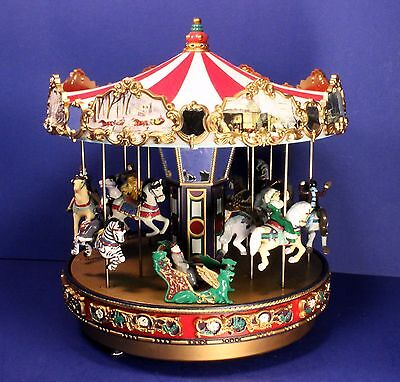 """Mr Christmas Gold Label """"The Carousel"""" Animated, Musical Merry-Go-Round - Works"""