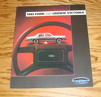 - Original 1983 Ford LTD Crown Victoria Sales Brochure 83