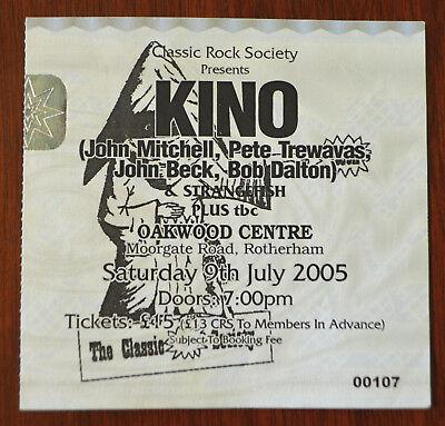 Kino & Strangefish Ticket Stub, Classic Rock Society, Rotherham 2005, Marillion