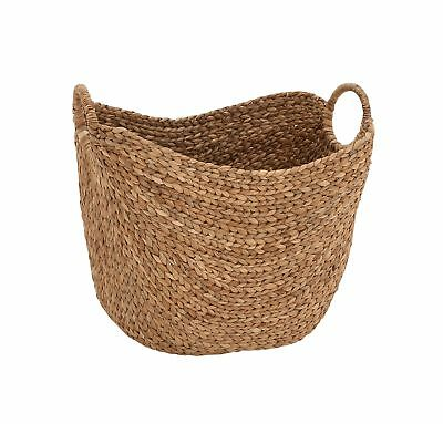 Deco 79 Large Seagrass Woven Wicker Basket