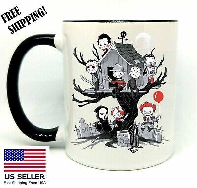 Evil Kids, It, Freddy, Birthday, Christmas Gift, Black Mug 11 oz, Coffee/Tea