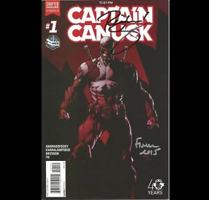 Captain Canuck #1 signed