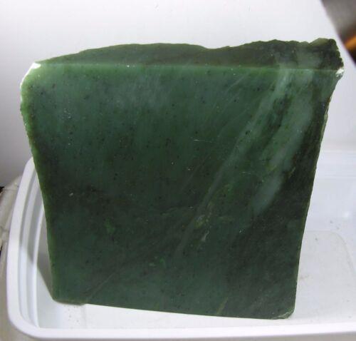1895g Bc Canada 100% Natural Raw Rough Green Jade Block Chunk Specimen 4lb 2 Oz