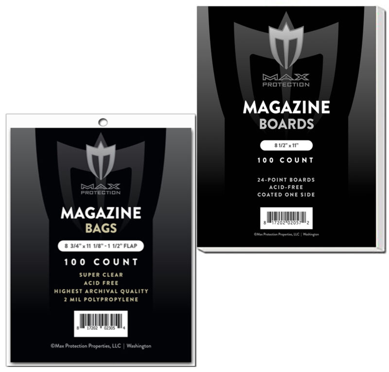 200 Max Pro Ultra Clear Premium Magazine Bags and Boards
