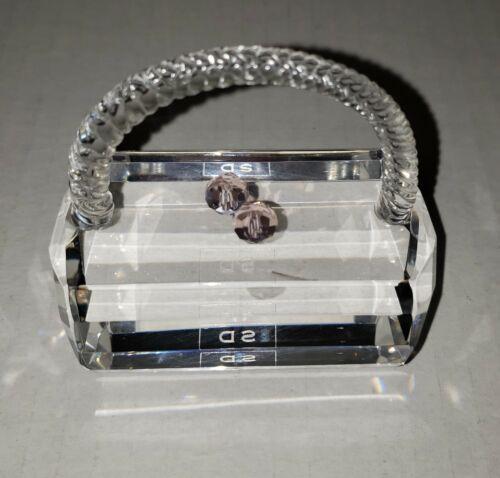 Simon Designs SD Crystal Handbag Figure Paperweight
