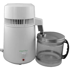 Water Distiller White- Countertop -Stainless Steel -Glass Container - Vegavita ™