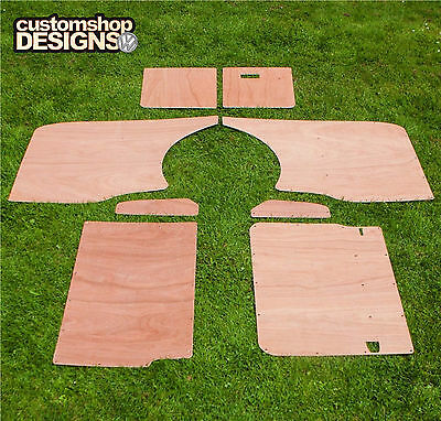VW T5 Transporter SWB Camper / Day Van Interior Panels 3.6mm Ply Lining Trim Kit