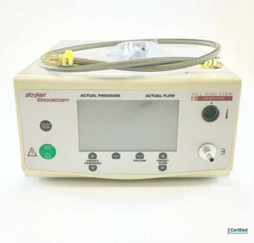 Stryker 40 Liter High Flow Insufflator w/ Yoke and Hose
